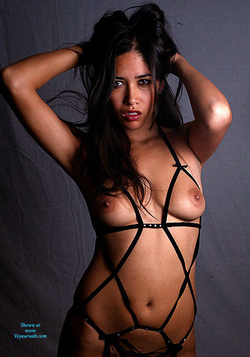 hot naked chicks in leather
